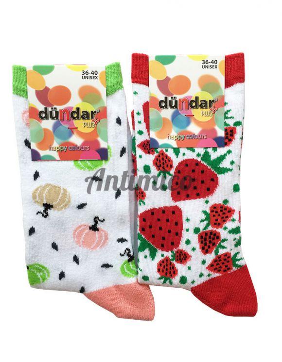 Антибактериални дамски чорапи ягода и тиква 2бр.