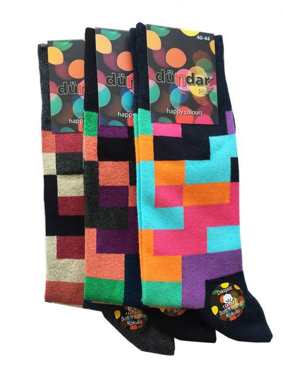 Фигурални антибактериални мъжки чорапи 3бр.