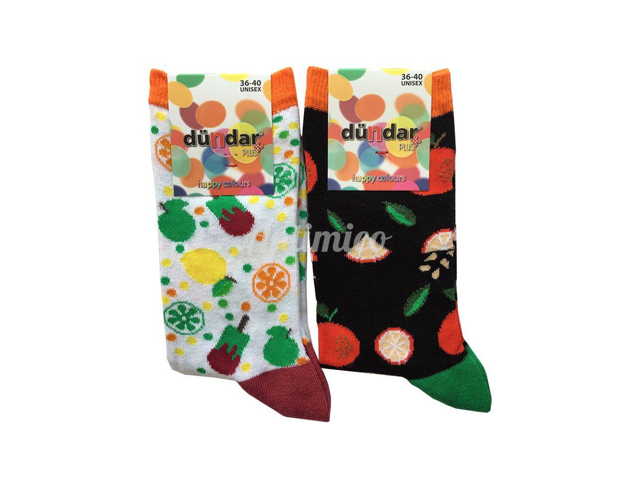 Антибактериални дамски чорапи сладолед и манго 2бр.