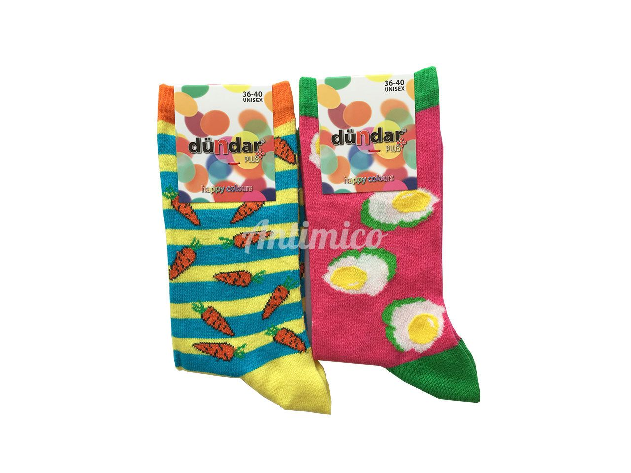 Антибактериални дамски чорапи морков и яйца 2бр.