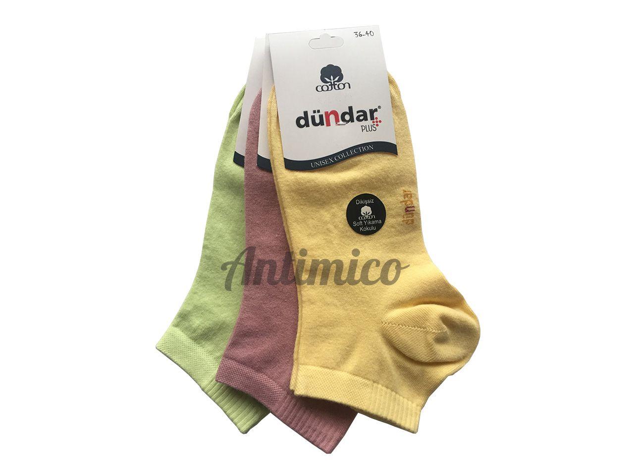 Дамски чорапи, над глезена, антибактериални, 3 чифта