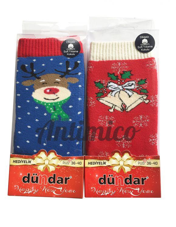 2x Дамски коледни чорапи