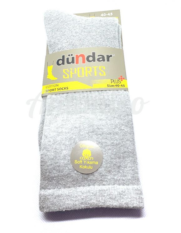 1бр Хавлиени спортни антибактериални мъжки чорапи, светло сив