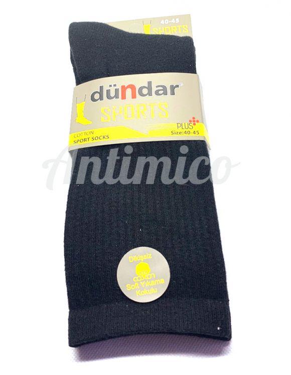 1бр Хавлиени спортни антибактериални мъжки чорапи, черен