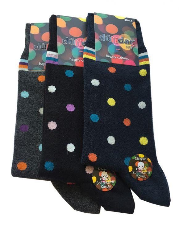 Антибактериални мъжки чорапи на точки 3бр.