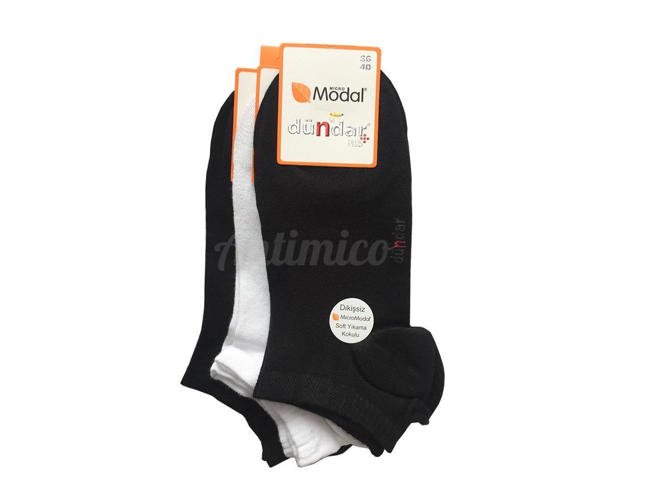 Дамски чорапи, на глезена от модал, антибактериални, 3 чифта