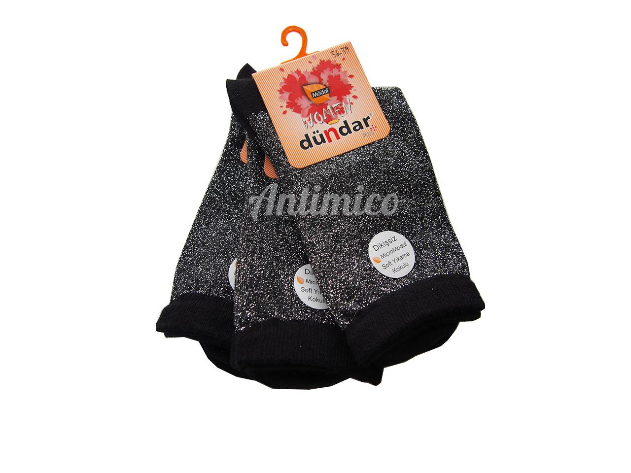 Антибактериални лъскави дамски чорапи от модал 3бр.