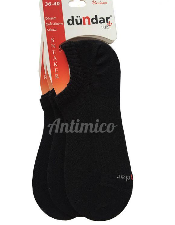 Антибактериални черни унисекс чорапи за маратонки 3 чифта