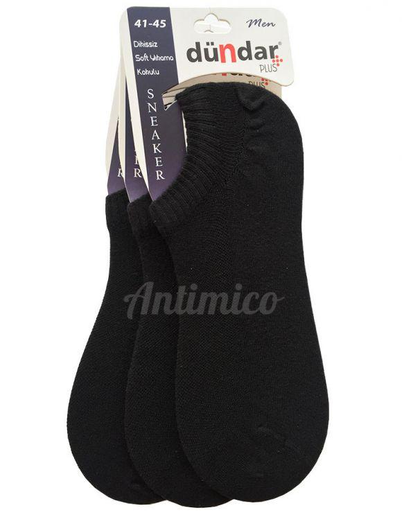 Антибактериални мъжки черни чорапи за маратонки 3 чифта