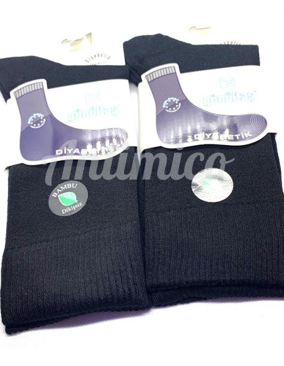 2 чифта Луксозни, тънки чорапи за Диабетици, бамбук