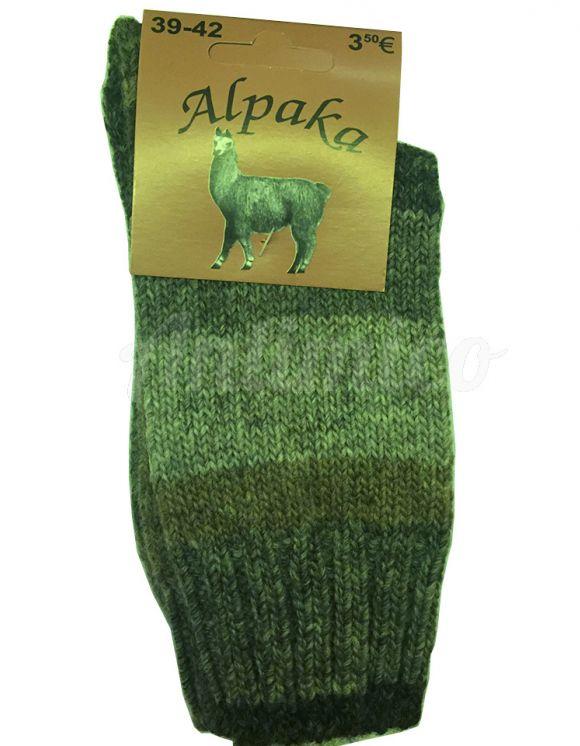 Алпака вълнени чорапи